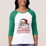 El navidad feo jura a Papá Noel Camisetas