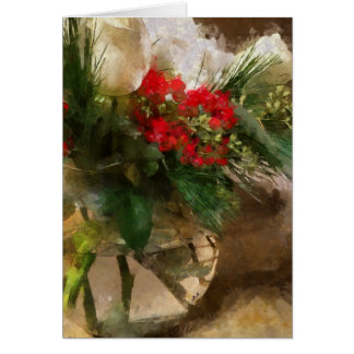 El navidad florece, tarjeta de la flor, tarjeta de
