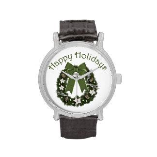 El navidad formal precioso enrruella VERDE Relojes De Mano