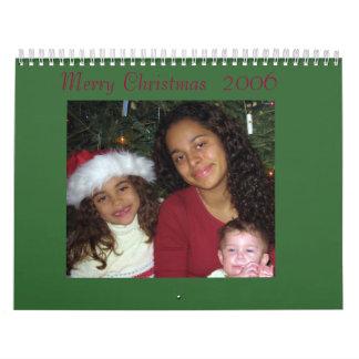 El navidad hace calendarios a nuestra familia