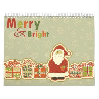 El navidad hace calendarios con los personajes de