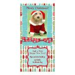 El navidad lindo goteó banal tarjeta fotografica
