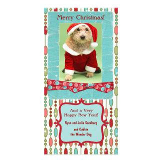 El navidad lindo goteó personalizado banal tarjetas fotográficas personalizadas