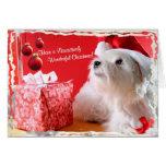 El navidad maravilloso de Westie desea 4 - modifiq Tarjeton