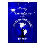 El navidad más grande de los mundos de Boss que sa Tarjetas