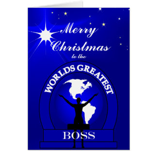 El navidad más grande de los mundos de Boss que Tarjeta De Felicitación