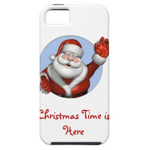 El navidad mide el tiempo está aquí otra vez iPhone 5 Case-Mate cobertura