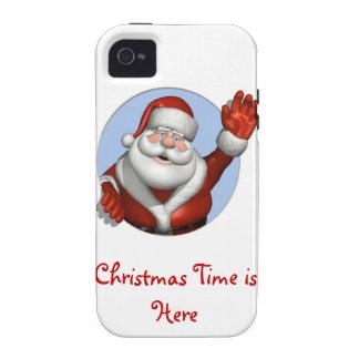 El navidad mide el tiempo está aquí otra vez iPhone 4/4S carcasa