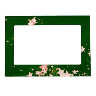 el navidad mira al trasluz el verde 15 marcos magnéticos de fotos