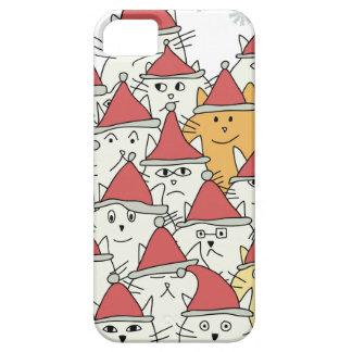 El navidad modela con muchos gatos divertidos funda para iPhone SE/5/5s
