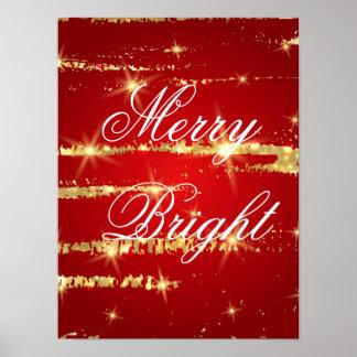 el navidad modela, rojo, oro, extracto, Navidad, Póster