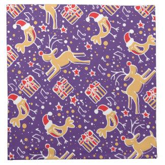 El navidad modeló servilletas del paño de los anim