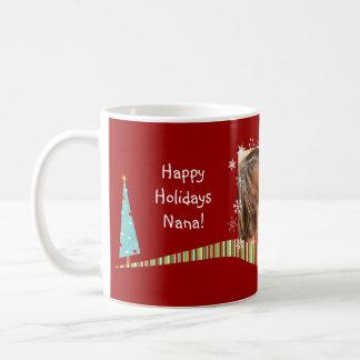 El navidad moderno personalizó la taza de la foto