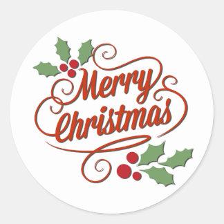 El navidad modificó al pegatina del regalo para