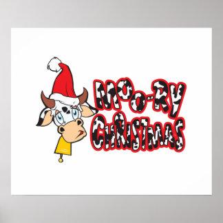 El navidad Moory divertido acobarda la tarjeta de Poster
