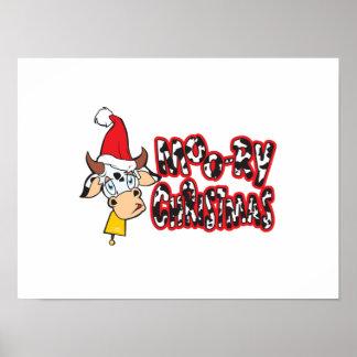 El navidad Moory divertido acobarda la tarjeta de Posters