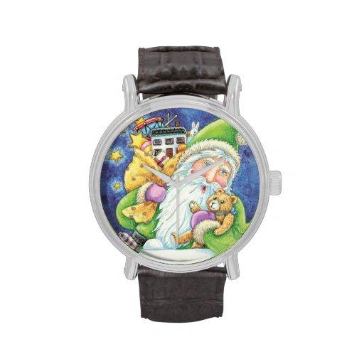 El navidad Papá Noel del dibujo animado juega Reloj De Mano