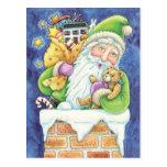 El navidad Papá Noel del dibujo animado juega Postales