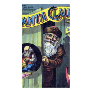El navidad, Papá Noel y el suyo del vintage Tarjetas De Visita