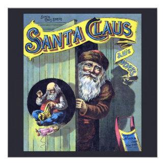 El navidad Papá Noel y el suyo del vintage trabaj Invitación Personalizada