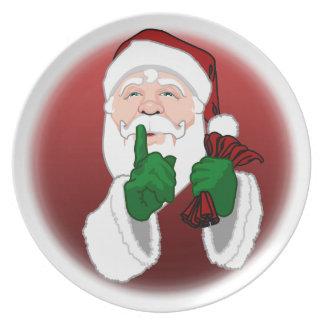 El navidad platea personaliza las placas de Santa Plato Para Fiesta