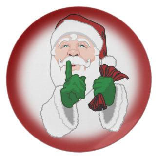 El navidad platea personaliza las placas de Santa Platos