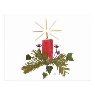 El navidad presionó diseños florales tarjeta postal