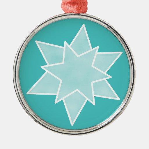 El navidad protagoniza el ornamento superior, turq adornos de navidad