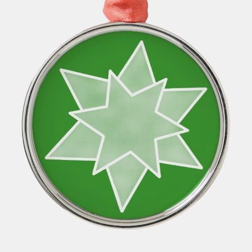 El navidad protagoniza el ornamento superior, verd ornato
