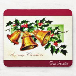 El navidad que saluda con un ángel juega música tapete de raton