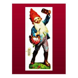 El navidad que saluda con un chica baila con un jo tarjetas postales