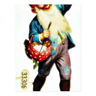 El navidad que saluda con un chica baila con un jo tarjeta postal