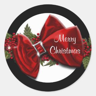 El navidad que saluda los sellos PERSONALIZA Pegatina Redonda