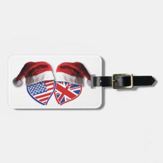 El navidad Reino Unido los E.E.U.U. patriótico cal Etiqueta Para Equipaje