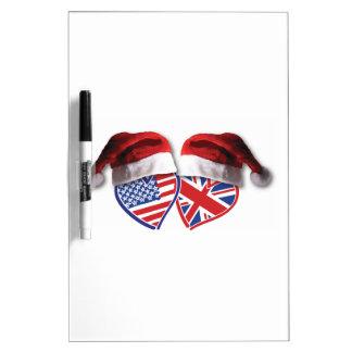 El navidad Reino Unido los E.E.U.U. patriótico cal Pizarra
