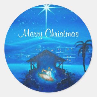El navidad religioso modificó al pegatina del