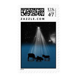 El navidad, religioso, natividad, protagoniza sellos postales