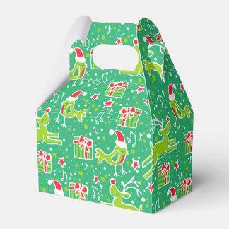 El navidad rojo del verde del pájaro del reno caja para regalos de fiestas