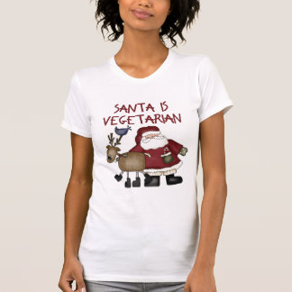 El navidad Santa es vegetariano Playera