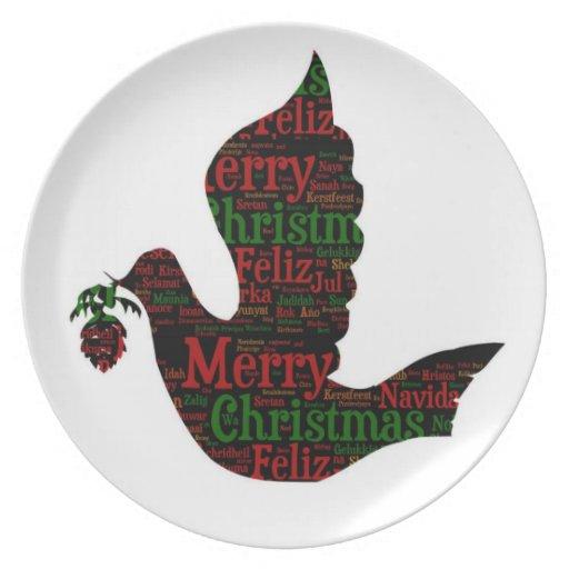 El navidad se zambulló con canciones del navidad plato