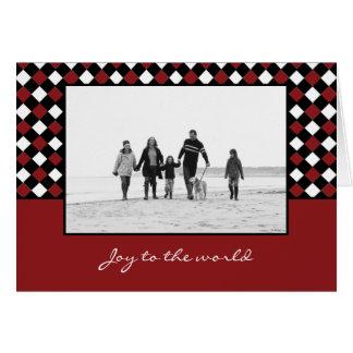 El navidad teje tarjetas de la foto del día de