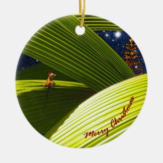 El navidad tropical de un lagarto del Gecko Ornato