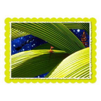 """El navidad tropical de un lagarto del Gecko Invitación 5"""" X 7"""""""