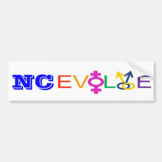 El NC se desarrolla Pegatina De Parachoque