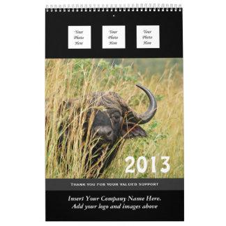 El negocio 2013 del animal salvaje PERSONALIZA Calendarios De Pared