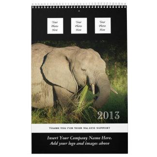 El negocio 2013 del animal salvaje PERSONALIZA Calendario