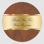 El negocio con clase le agradece los pegatinas etiquetas redondas
