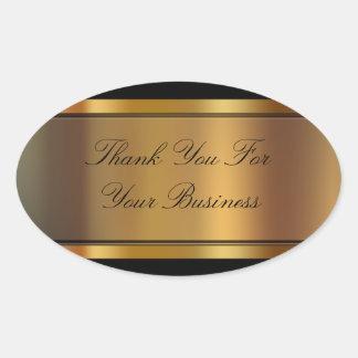El negocio con clase le agradece los pegatinas calcomanías de ovaladas