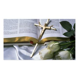 El negocio cristiano de la biblia Tarjeta-Ve detrá Plantilla De Tarjeta De Visita