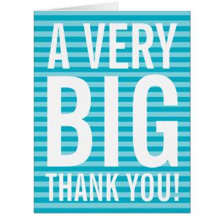 El negocio del aprecio del empleado le agradece tarjeta de felicitación grande